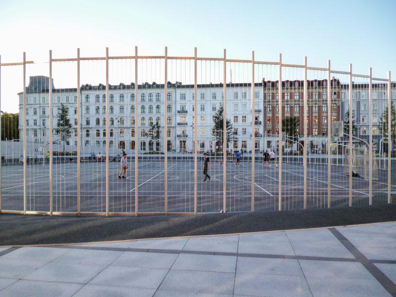 RVS voetbalkooi in Kopenhagen, op maat gemaakt