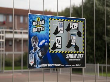 Bord Urban Sports Battle – kabelbevestiging