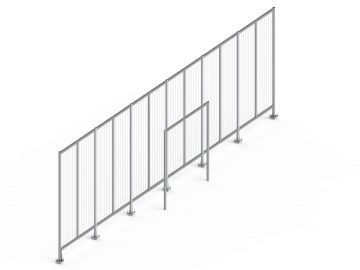 Backstop 15 x 3m met demontabel portaaldoel 4 x 2,5m