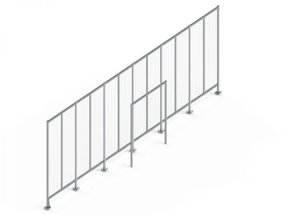 4002-70 Backstop 15x3m inclusief 1206