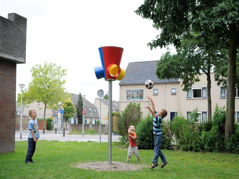 Basketbalspel met 3-voudige uitloop