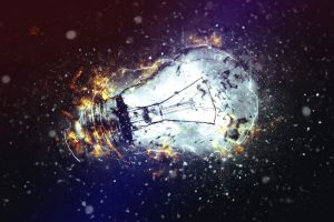 36623746 - exploding light bulb as conceptual image for new ideas and brainstorming.