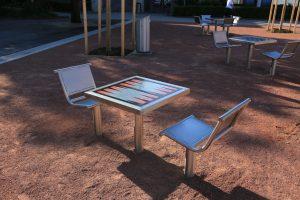 IJslander Backgammon tafel met zitjes
