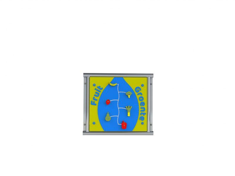 1999-422-01 Speelpaneel Fruit/Groente vario - Bevestiging aan muur
