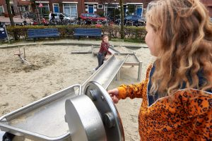 Waterspelen in speeltuin