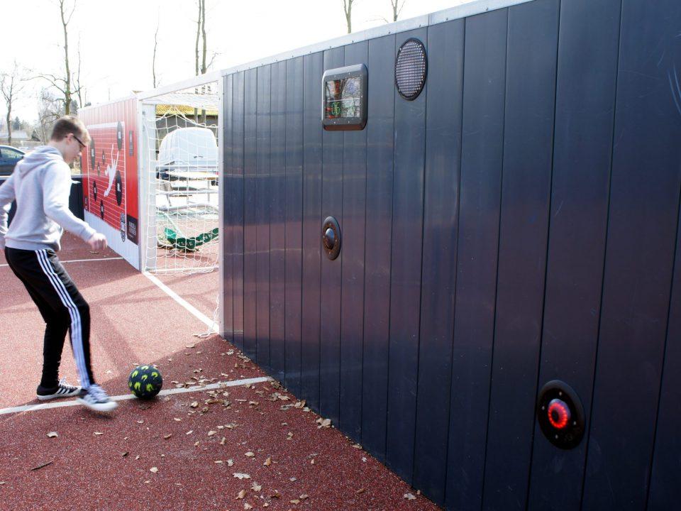 Voetballende jongen go! scoreboard