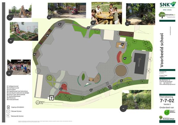 groen schoolplein tekening ontwerp